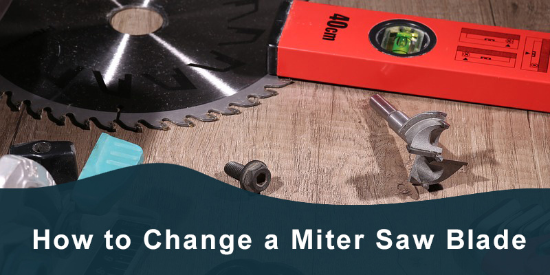 How to change miter saw blade.