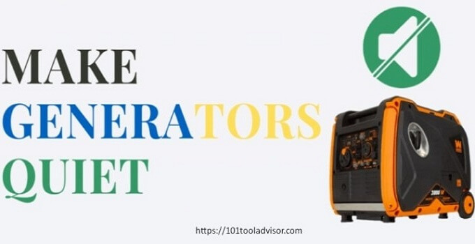 how to make a generator quiet