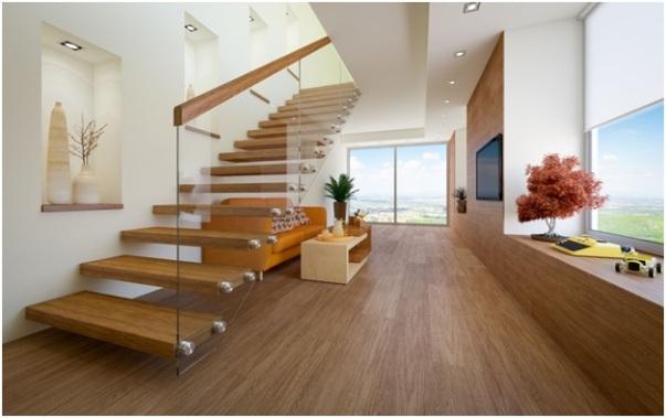 Wooden Framed Handrail Style for Glass Railing
